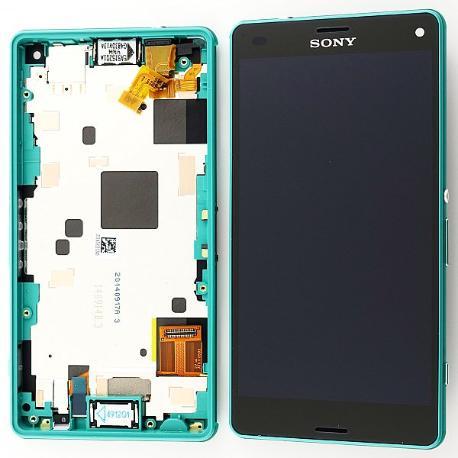 PANTALLA LCD DISPLAY + TACTIL CON MARCO ORIGINAL SONY XPERIA Z3 COMPACT MINI D5803, D5833 VERDE - RECUPERADA