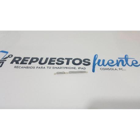 BOTONES VOLUMEN + ENCENDIDO DE CARCASA ALCATEL ONE TOUCH PIXI 3 (5.0) 5015X 5015D PLATA - RECUPERADO