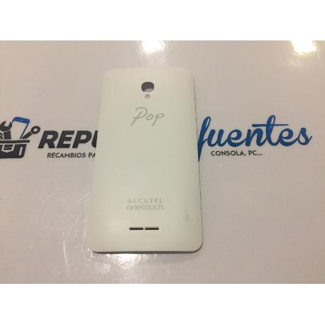 TAPA TRASERA ORIGINAL ALCATEL ONE TOUCH POP STAR 3G 5022D - BLANCA RECUPERADA