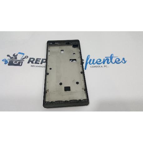 CARCASA FRONTAL PARA LCD + TACTIL HISENSE HS-U961 NEGRA - RECUPERADA