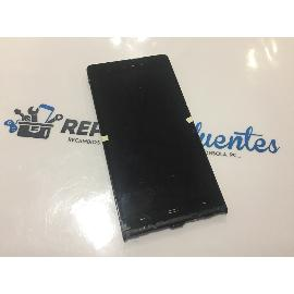 PANTALLA LCD + TACTIL CON MARCO ORIGINAL SZENIO SYRENI 62FHD , ULEFONE U600 P6 NEGRA - RECUPERADA