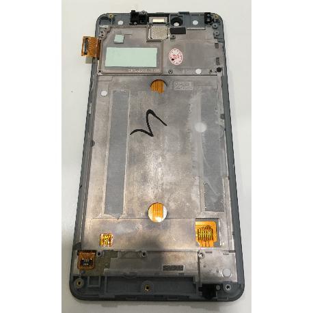 PANTALLA LCD DISPLAY + TACTIL CON MARCO ORIGINAL BQ AQUARIS U  - RECUPERADA