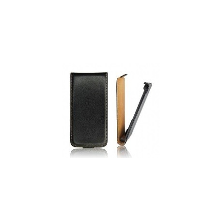 Funda Cuero Vertical Samsung Galaxy S3 mini i8190 Negra