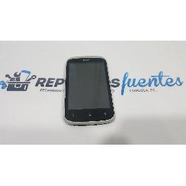 PANTALLA LCD + TACTIL CON MARCO ORIGINAL HTC DESIRE C A320 PLATA - RECUPERADA
