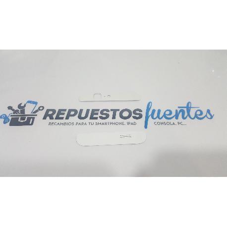 TAPA TRASERA SUPERIOR E INFERIOR DE CARCASA TRASERA ORIGINAL PARA HUAWEI ASCEND G7 BLANCA - RECUPERADA