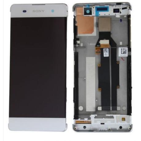 PANTALLA LCD DISPLAY + TACTIL CON MARCO PARA SONY XPERIA XA F3111 F3113 F3115 - BLANCA