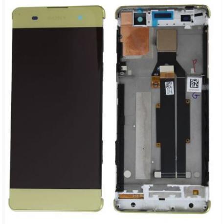 PANTALLA LCD DISPLAY + TACTIL CON MARCO PARA SONY XPERIA XA F3111 F3113 F3115 - AMARILLA