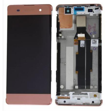 PANTALLA LCD DISPLAY + TACTIL CON MARCO PARA SONY XPERIA XA - ROSA