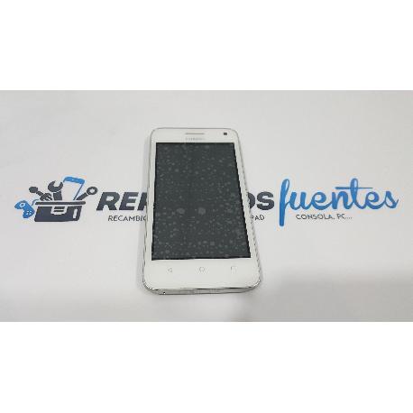 PANTALLA LCD DISPLAY + TACTIL CON MARCO ORIGINAL PARA HUAWEI Y360 BLANCA - RECUPERADA