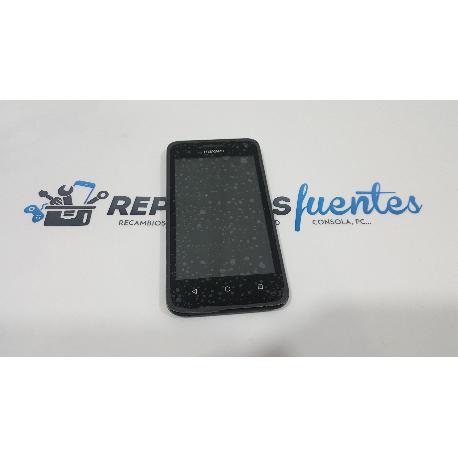 PANTALLA LCD DISPLAY + TACTIL CON MARCO ORIGINAL PARA HUAWEI Y360 NEGRA - RECUPERADA