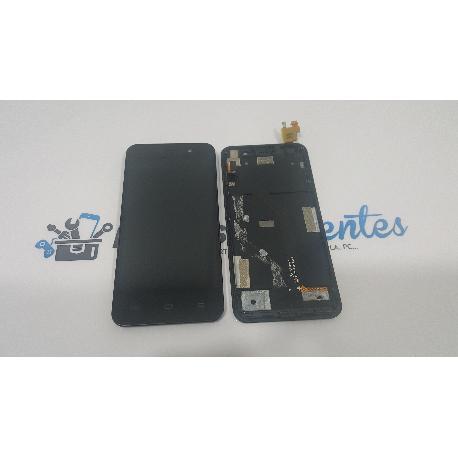 PANTALLA LCD + TACTIL CON MARCO ORIGINAL PARA JIAYU JY-G4 NEGRA - RECUPERADA