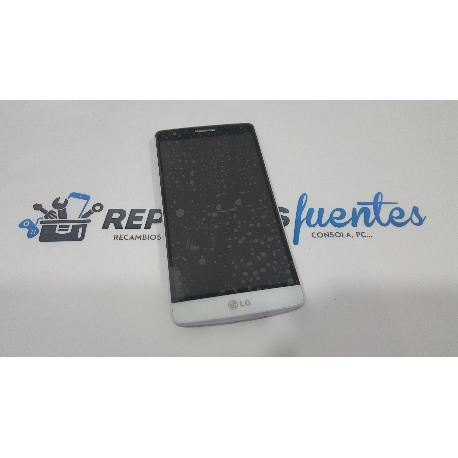 PANTALLA LCD DISPLAY + TACTIL CON MARCO PARA LG G3 MINI D722 BLANCA - RECUPERADA