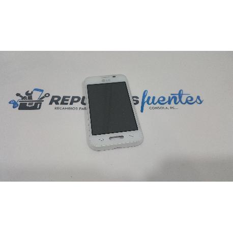 PANTALLA LCD + TACTIL CON MARCO ORIGINAL PARA LG D160 L40 BLANCA - RECUPERADA