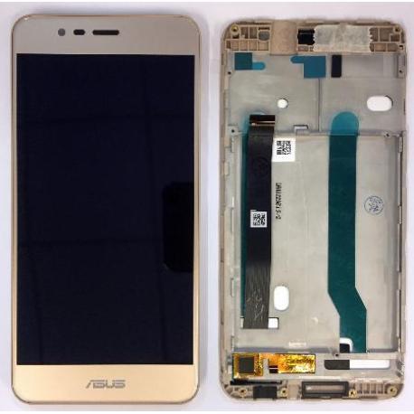 PANTALLA LCD DISPLAY + TACTIL CON MARCO PARA ASUS ZENFONE 3 MAX ZC520TL - ORO