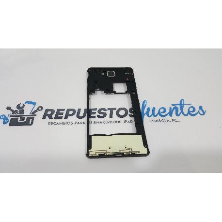 CARCASA INTERMEDIA ORIGINAL PARA LG L9 II D605 NEGRA - RECUPERADA