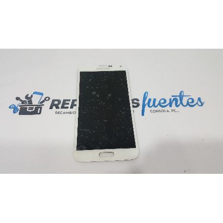 PANTALLA LCD DISPLAY + TACTIL ORIGINAL SAMSUNG GALAXY S5 I9600 SM-G900F BLANCA - RECUPERADA