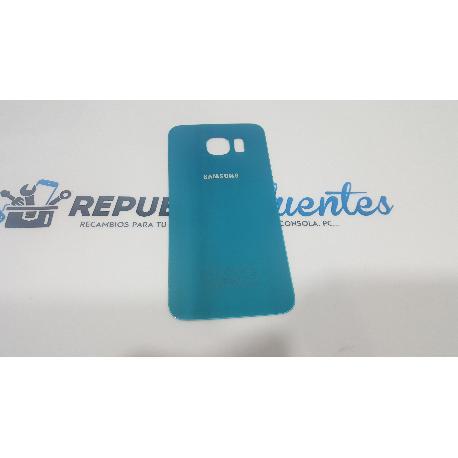 CARCASA TAPA TRASERA DE BATERIA ORIGINAL PARA SAMSUNG GALAXY S6 I9600 SM-G920 AZUL METALIZADO - RECUPERADA