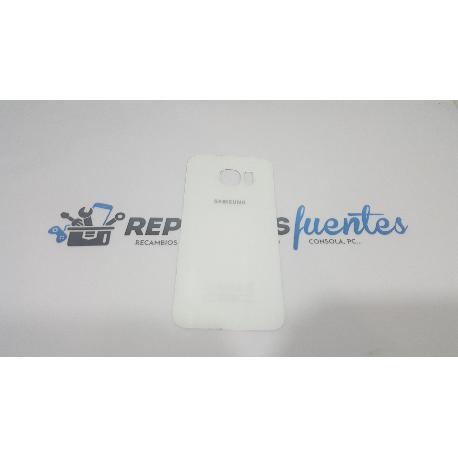 CARCASA TAPA TRASERA DE BATERIA ORIGINAL PARA SAMSUNG GALAXY S6 EDGE SM-G925 BLANCA - RECUPERADA