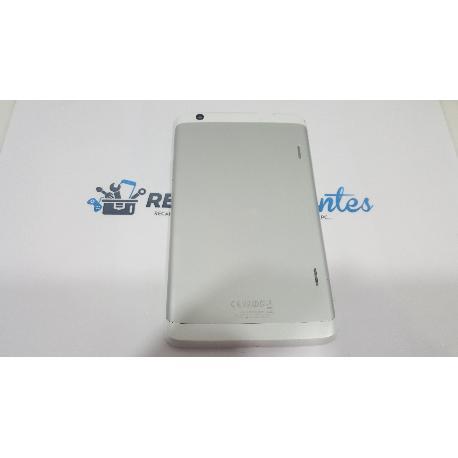 CARCASA TAPA TRASERA ORIGINAL LG G TABLET PAD 8.3 V500 PLATA - RECUPERADA