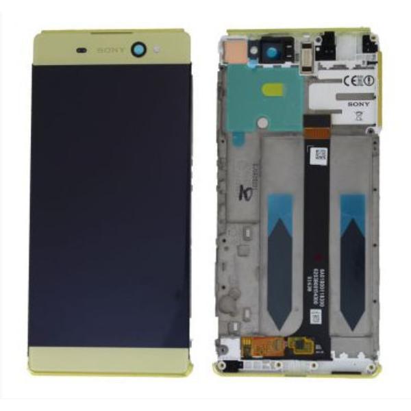 PANTALLA LCD DISPLAY + TACTIL CON MARCO ORIGINAL PARA SONY XPERIA XA ULTRA F3211 - AMARILLA