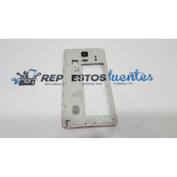 CARCASA INTERMEDIA CON LENTE DE CAMARA PARA SAMSUNG GALAXY NOTE 4 SM-N910 ROSA - RECUPERADA