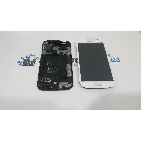 PANTALLA LCD + TACTIL CON MARCO ORIGINAL SAMSUNG GALAXY GRAND NEO I9060 BLANCA - RECUPERADA TARA