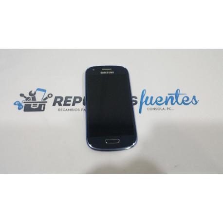 PANTALLA LCD + TACTIL CON MARCO ORIGINAL SAMSUNG GALAXY S3 MINI I8190 I8200 - AZUL / DESMONTAJE