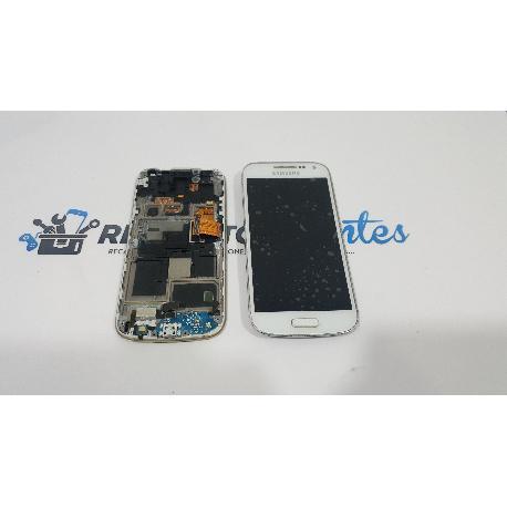 PANTALLA LCD + TACTIL CON MARCO ORIGINAL SAMSUNG GALAXY S4 MINI I9195 BLANCA - RECUPERADA