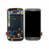 Pantalla completa + carcasa frontal Original Samsung Galaxy S3 i9305 Gris