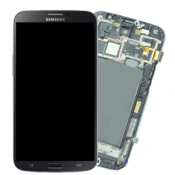 PANTALLA LCD DISPLAY + TACTIL CON MARCO ORIGINAL PARA SAMSUNG I9205 GALAXY MEGA 6.3 AZUL - RECUPERADA