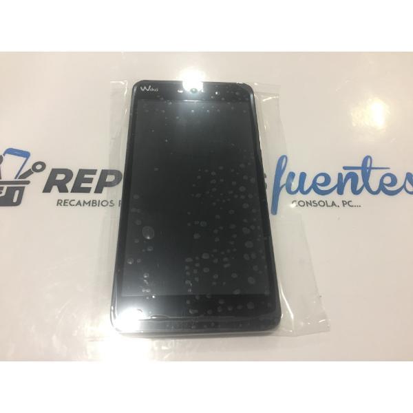 PANTALLA LCD DISPLAY + TACTIL CON MARCO ORIGINAL WIKO RAINBOW JAM 3G VERDE - RECUPERADA