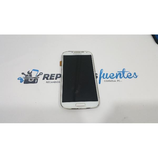 PANTALLA LCD + TÁCTIL CON MARCO ORIGINAL SAMSUNG GALAXY S4 I9505 BLANCA - RECUPERADA