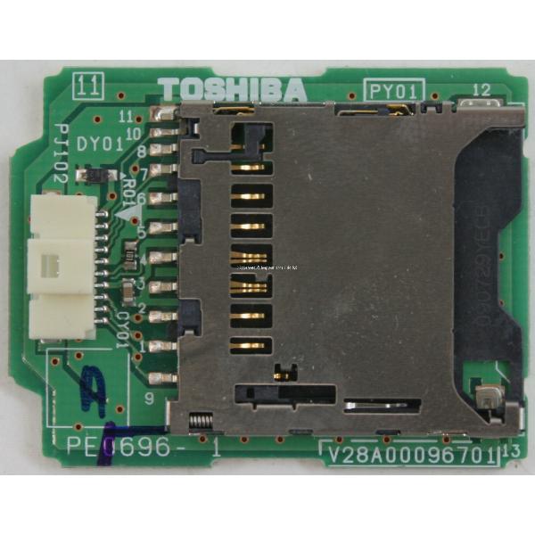 PLACA LECTOR DE TARJETA SD TV TOSHIBA 32XV635D PE0696 V28A00096701