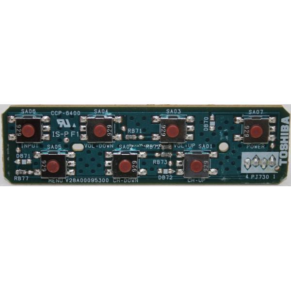 BOTONERA TV TOSHIBA 32XV635D PE0720 V28A00095001