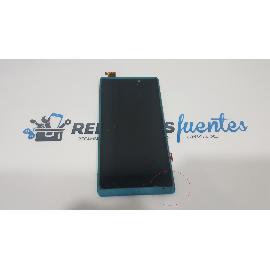 PANTALLA LCD DISPLAY + TACTIL CON MARCO AZUL PARA WOXTER ZIELO Z -400 - RECUPERADA TARA