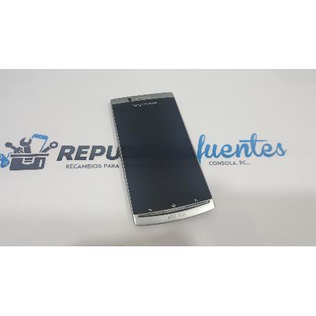 PANTALLA TACTIL + LCD CON MARCO PLATA SONY ERICSSON XPERIA ARC LT15I LT18I DE DESMONTAJE