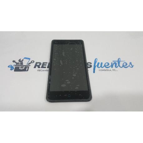 PANTALLA LCD + TACTIL CON MARCO ORIGINAL PARA ZTE BLADE L3 NEGRA - RECUPERADA