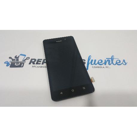 PANTALLA TACTIL + LCD CON MARCO ORIGINAL PARA HUAWEI HONOR 4C , HUAWEI G PLAY MINI G650 CHC-U01 NEGRA - RECUPERADA