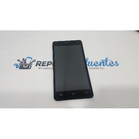 PANTALLA LCD + TACTIL CON MARCO ORIGINAL PARA AVENZO SMARTPHONE XIRIUS 5.5 NEGRA - RECUPERADA