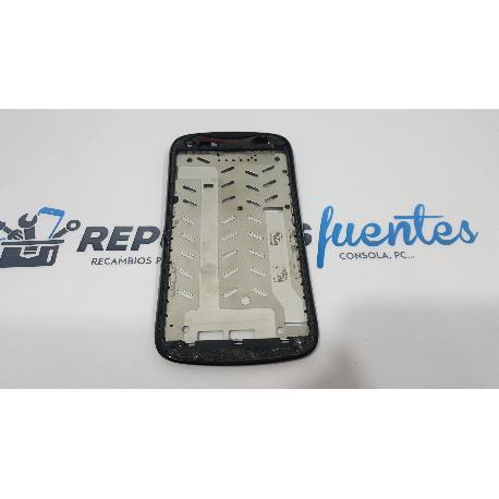 MARCO FRONTAL ORIGINAL PARA ACER LIQUID E2 V370 NEGRO - RECUPERADO