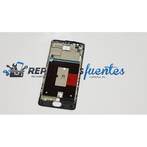 CARCASA FRONTAL DE LCD PARA ONEPLUS 3T - NEGRA