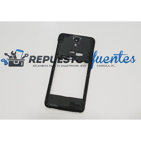 CARCASA INTERMEDIA CON LENTE NEGRA PARA HTC DESIRE 620