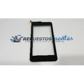 PANTALLA TACTIL CON MARCO ORIGINAL PARA BEST BUY EASYPHONE TABLET 6 , PRIMUX BETA 2 , XTREME 6 QUAD CORE NEGRA - RE