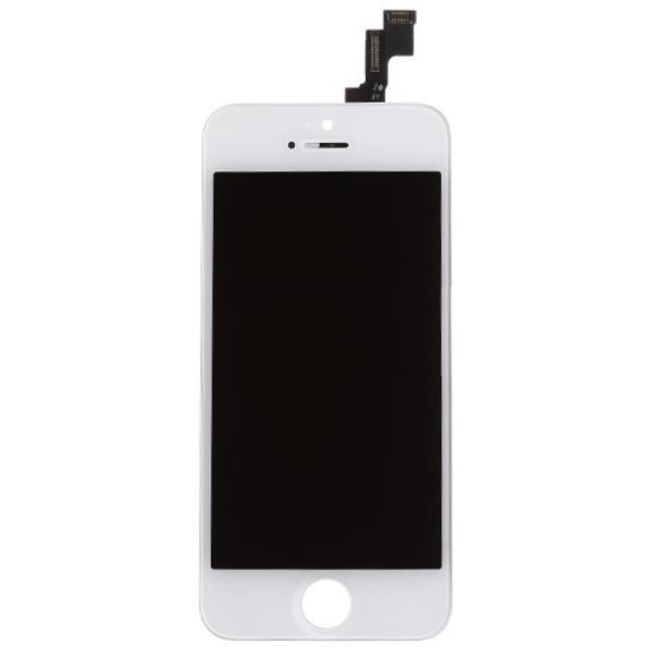 PANTALLA TACTIL + LCD DISPLAY CON PRE-MARCO PARA IPHONE 5S BLANCA - RECUPERADA
