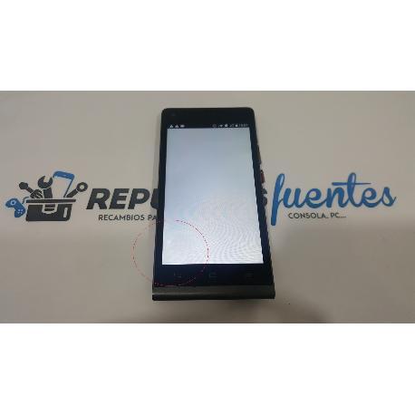 RESPUESTO PANTALLA LCD + TACTIL CON MARCO HUAWEI ASCEND G6 3G Y ORANGE GOVA NEGRA - RECUPERADA TARA