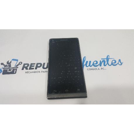 RESPUESTO PANTALLA LCD + TACTIL CON MARCO HUAWEI ASCEND G6 3G Y ORANGE GOVA NEGRA - RECUPERADA