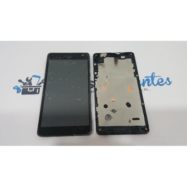 PANTALLA LCD DISPLAY + TACTIL CON MARCO ORIGINAL PARA MICROSOFT LUMIA 535 VERSION EN FLEX CT2C - RECUPERADA