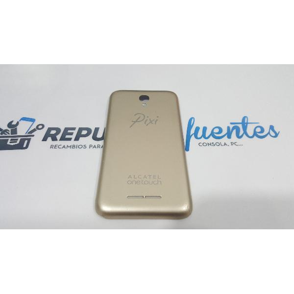 TAPA TRASERA ORIGINAL PARA ALCATEL ONE TOUCH PIXI FIRST 4024D DORADA - RECUPERADA