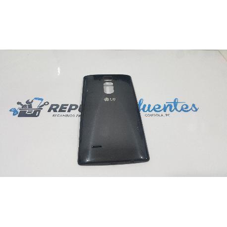 CARCASA TAPA TRASERA DE BATERIA ORIGINAL PARA LG H955 G FLEX 2 NEGRA - RECUPERADA