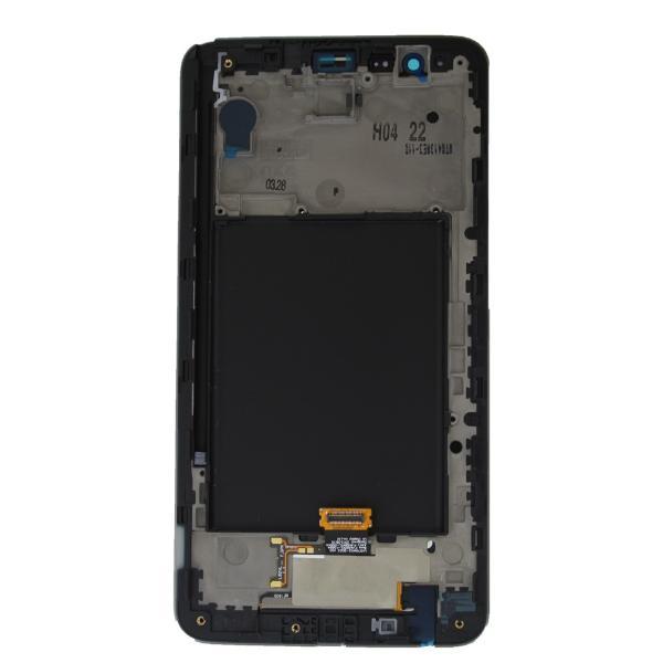 PANTALLA LCD DISPLAY + TACTIL CON MARCO PARA LG STYLUS 2 K520 - NEGRO